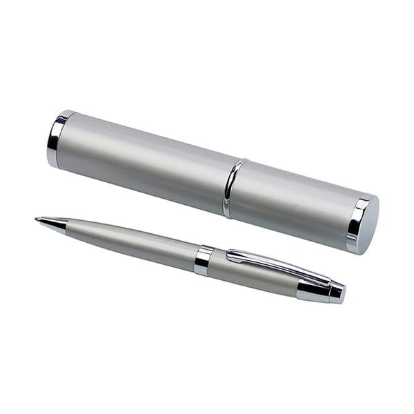 Metal ballpen in a matching tube