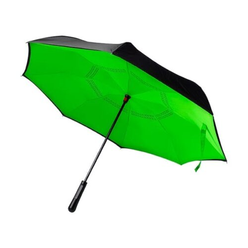 Reversible, twin-layer umbrella
