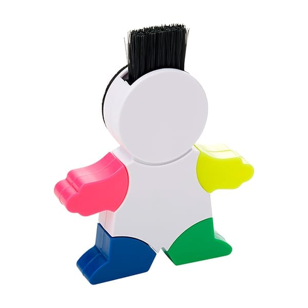 Highlighter with a screen cleaner