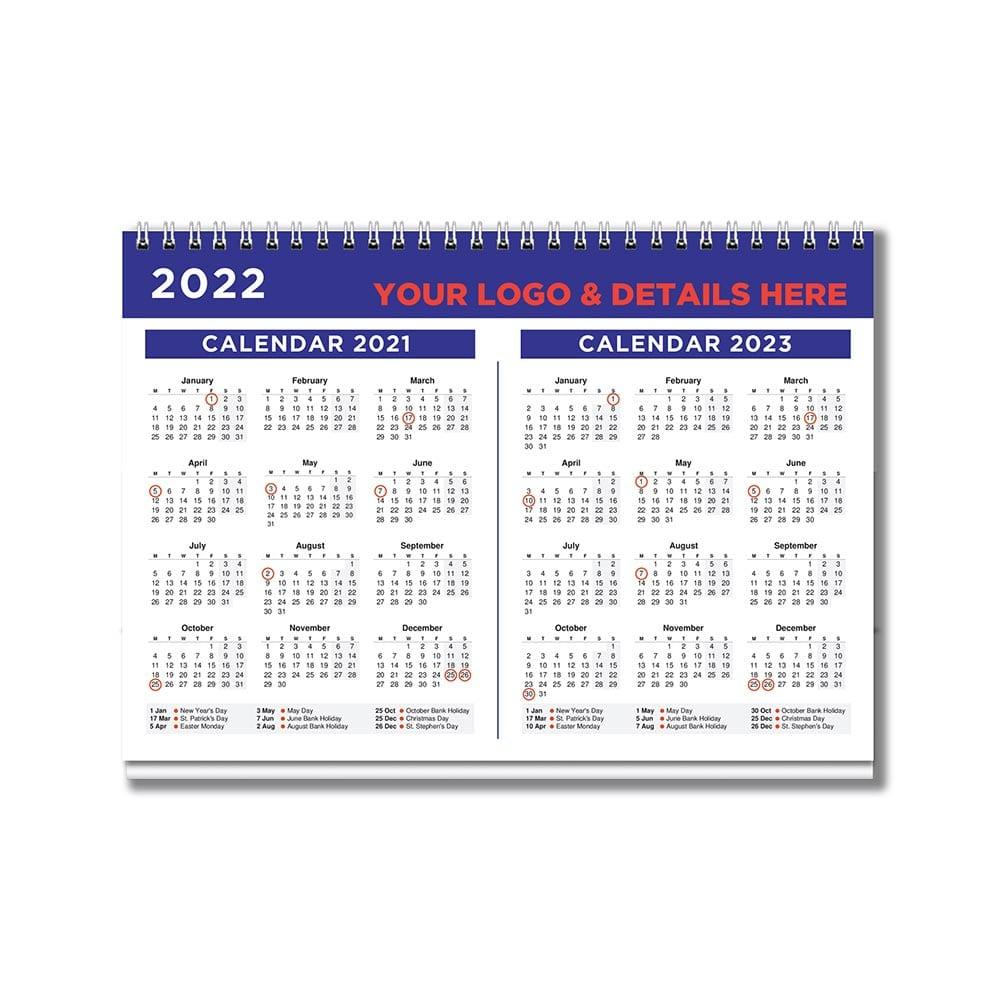 A5 Bespoke Desk calendar 2022