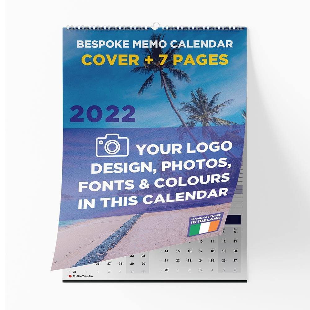 Bespoke Memo wall calendar 2022