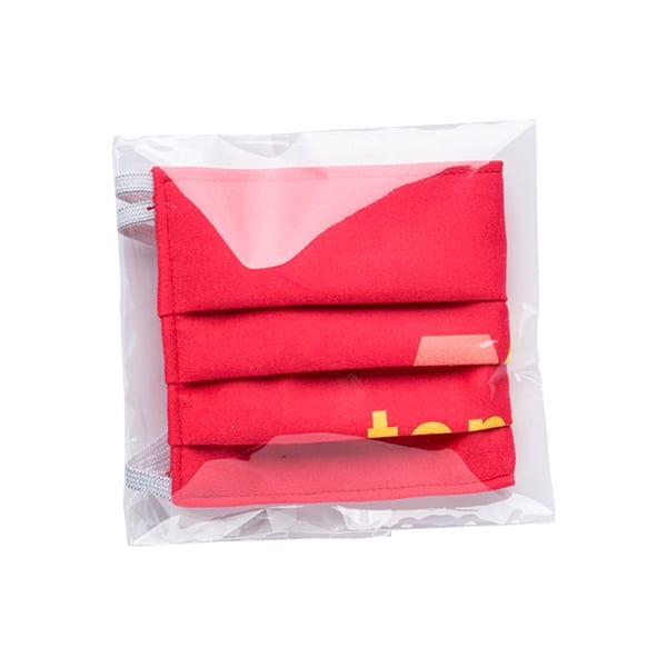 Folded sublimation Face covering
