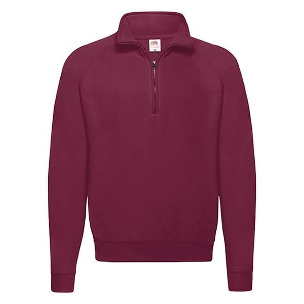 Classic zip neck sweatshirt