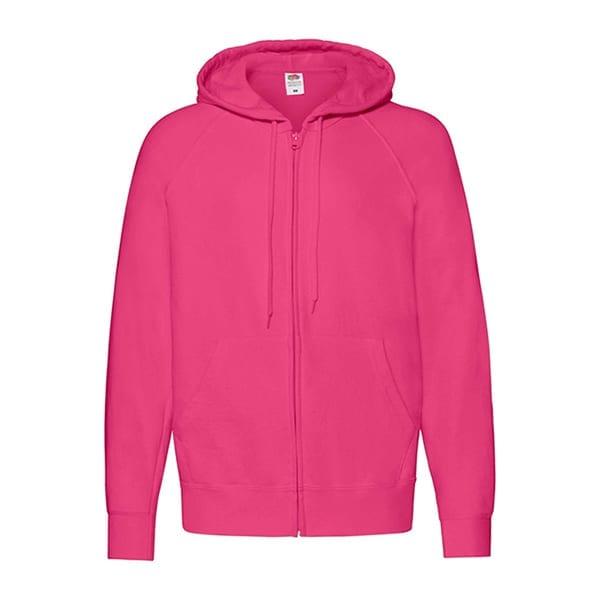 Lightweight hooded sweatshirt jacket