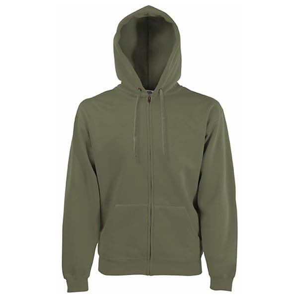 Premium hooded sweatshirt jacket