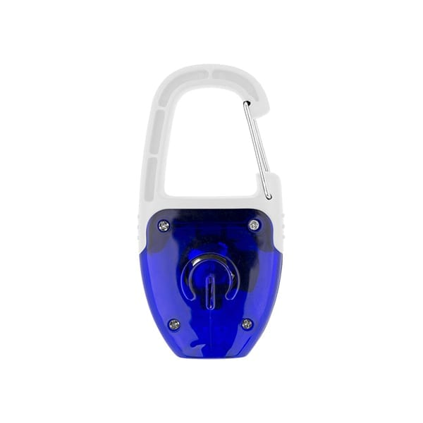 Reflect-or LED keychain light with carabiner