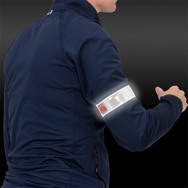 Reflective LED arm strap