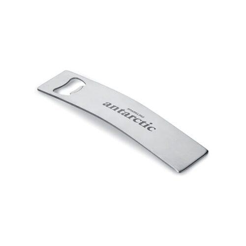 Elegant stainless steel curved bottle opener