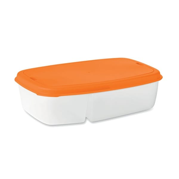 Lunch box with 2 compartments