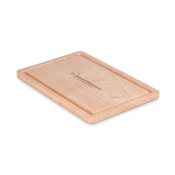 Large wood cutting board with groove