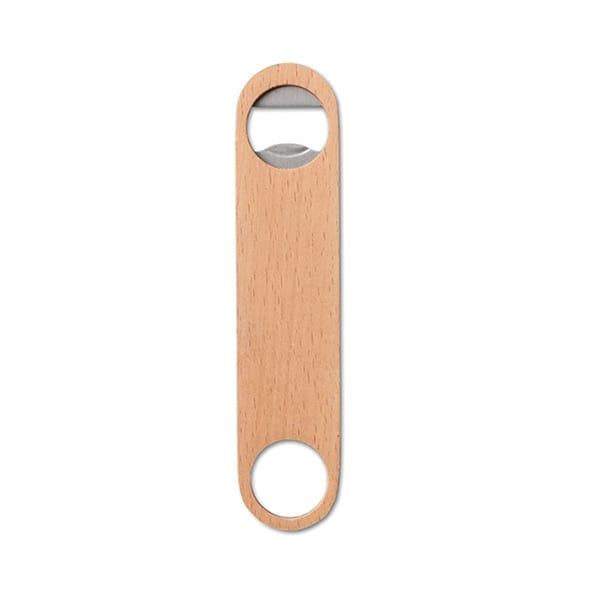 Stainless steel and wooden opener bottle
