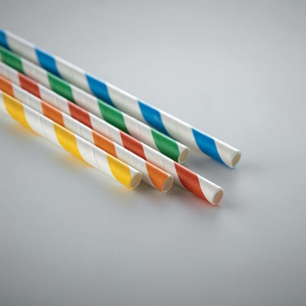 Set of 10 paper straws presented in a Kraft box