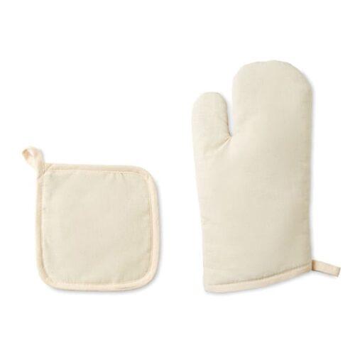 Set of kitchen oven glove in cotton