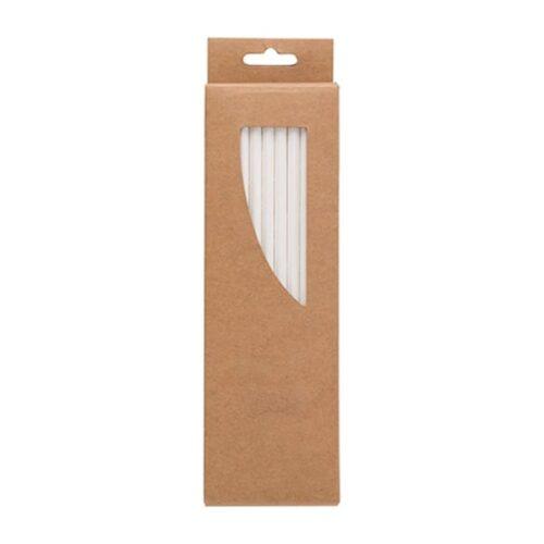 50 Paper straws in cardboard sleeve