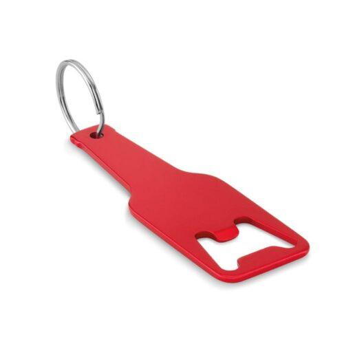 Aluminium bottle opener keyring