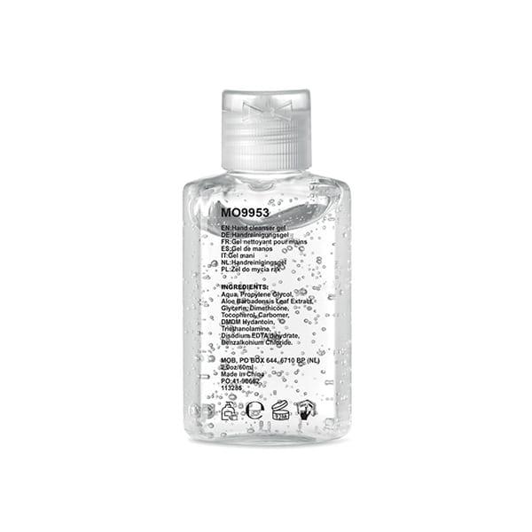 Hand cleanser gel in PET bottle with flip cap