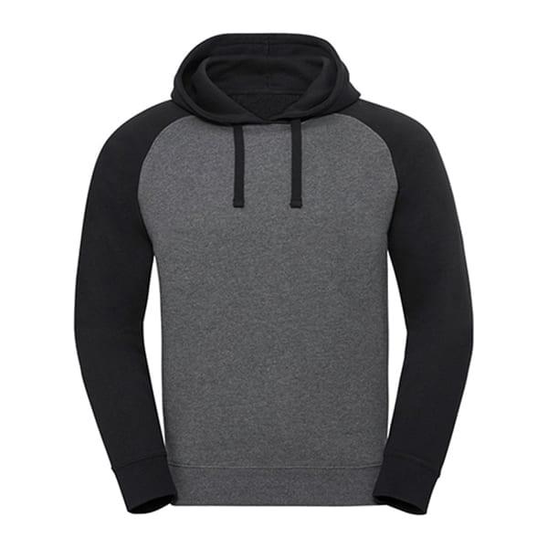 Hooded baseball sweatshirt