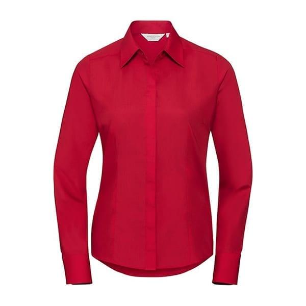 Women's long sleeve polycotton shirt