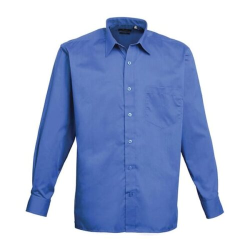 Men's poplin long sleeve shirt
