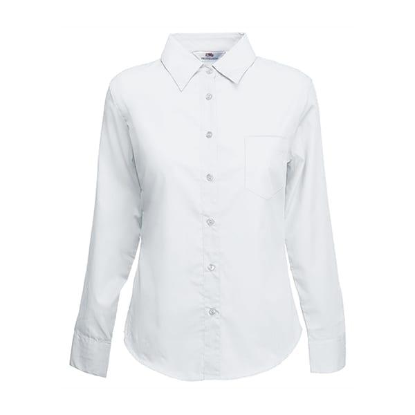 Ladyfit poplin long sleeve shirt