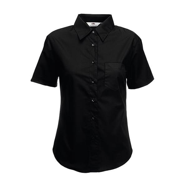 Ladyfit poplin short sleeve shirt