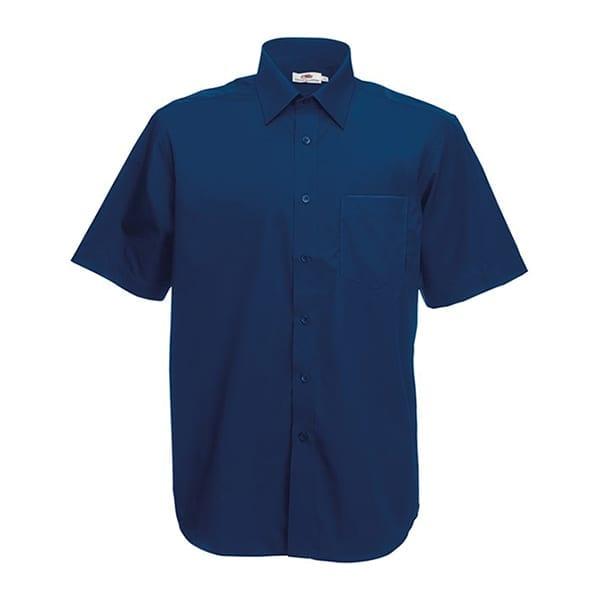 Men's poplin short sleeve shirt