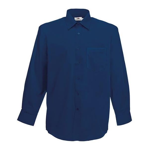 Men's poplin long sleeve shirt
