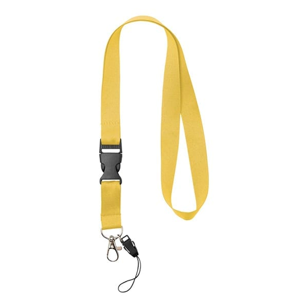 Lanyard with detachable buckle and holder