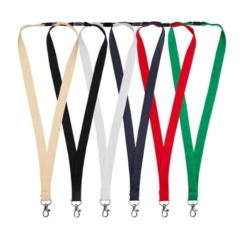Cotton Lanyard with safety clip