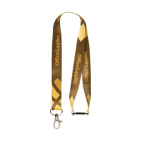 Sublimation Lanyard with safety clip