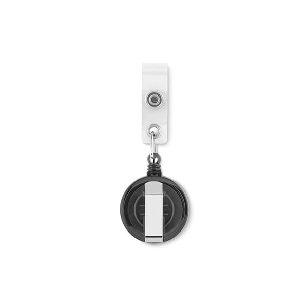 Badge holder with metallic clip