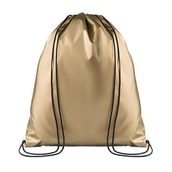 Drawstring bag shiny coating