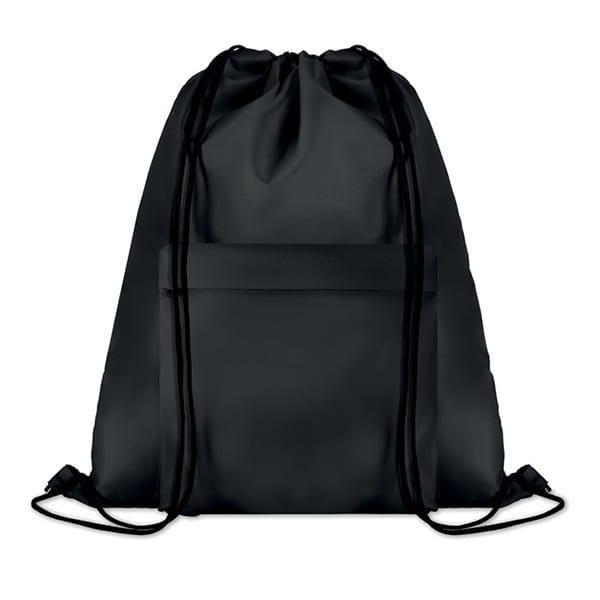 Polyester Drawstring bag with pocket