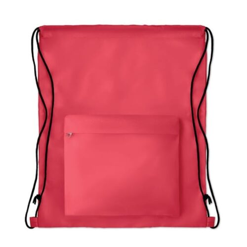 Polyester Drawstring bag with pocket