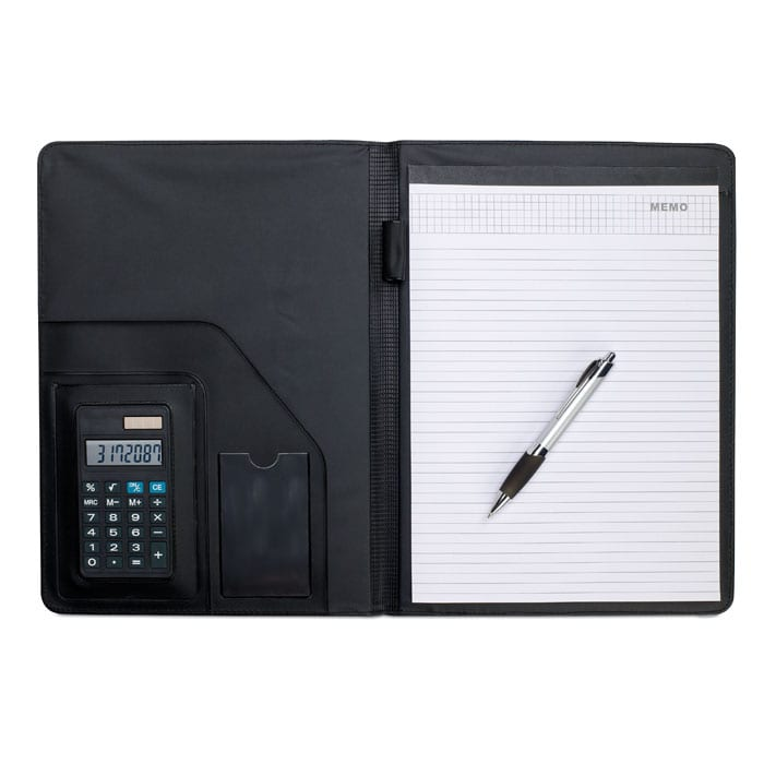 A4 Conference Folder with calculator
