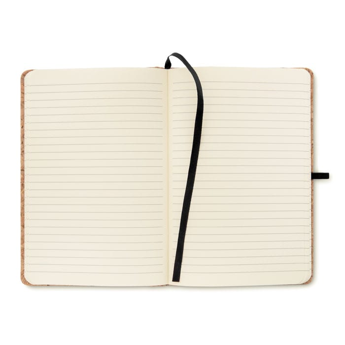 A5 Lined Notebook with Cork cover