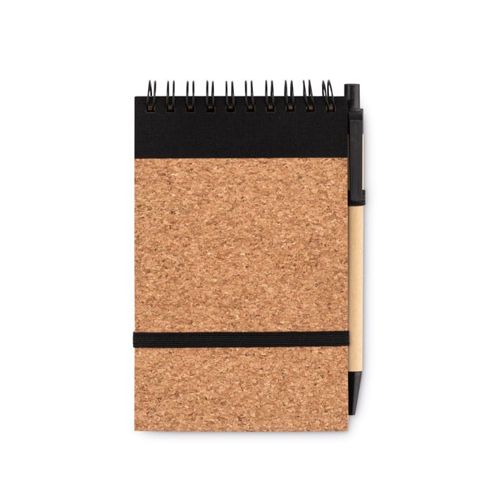 A6 Recycled Notebook with Cork cover