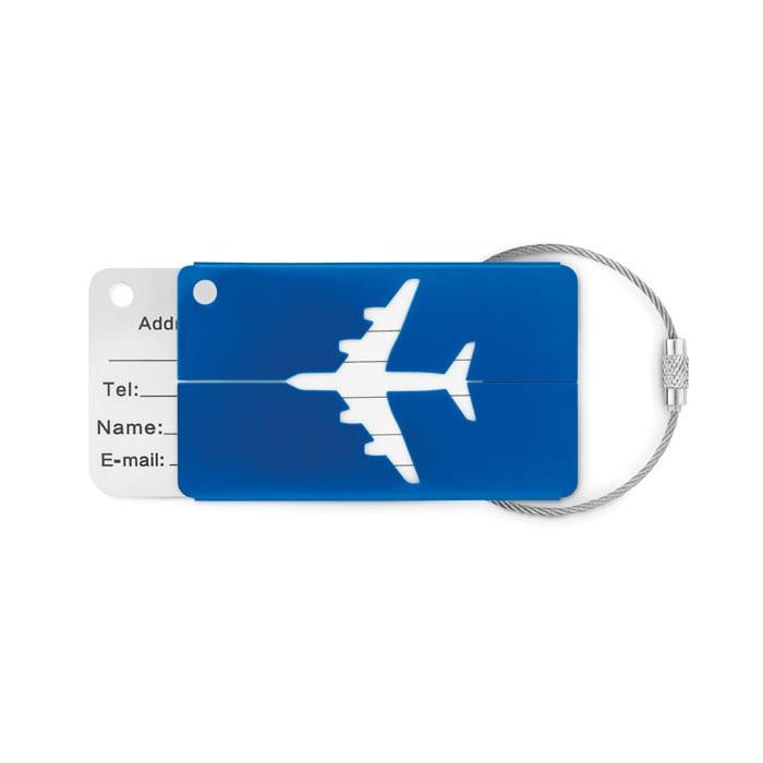 Aluminium airplane luggage tag