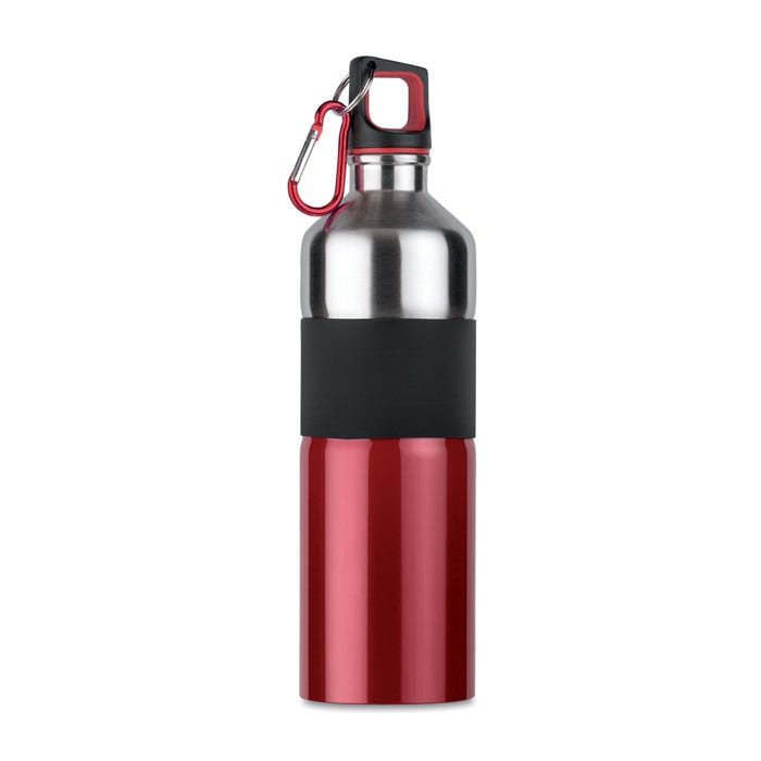 Bicolour metal bottle with rubber grip 750ml
