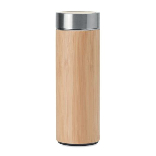 Double wall flask with bamboo cover 400ml