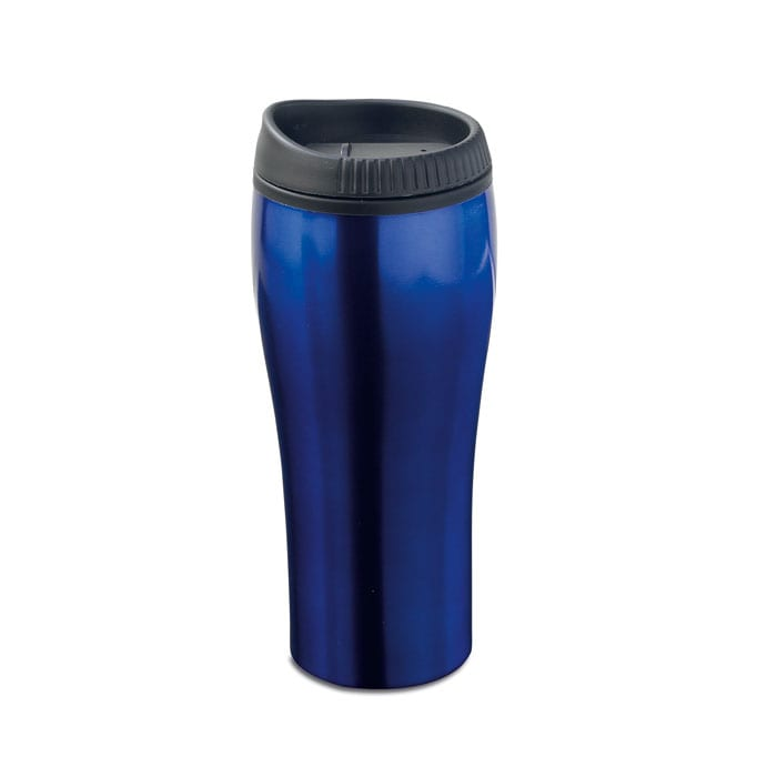 Double wall metal travel cup shinny finish