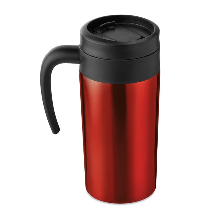 Double wall stainless steel cup with handle