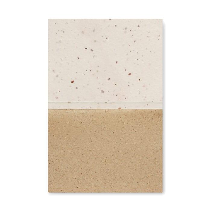 Grass seed paper memo block