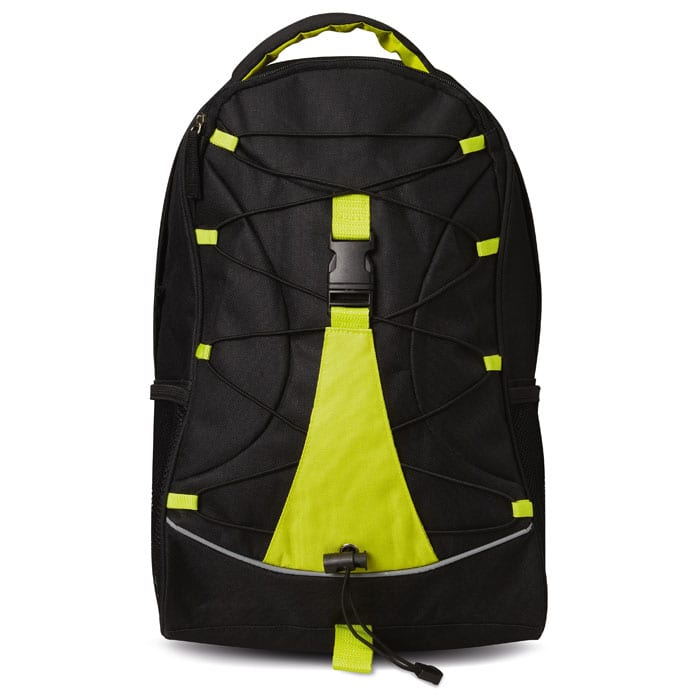 Backpack with colourful contrasting facing