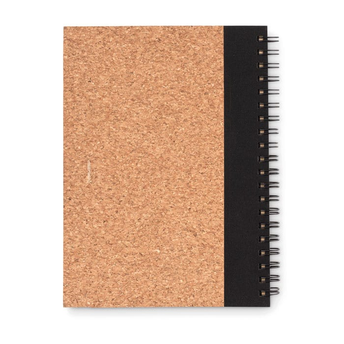 Recycled notebook with cork cover