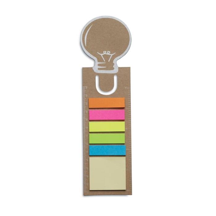 lightbulb shape Bookmark with sticky notes