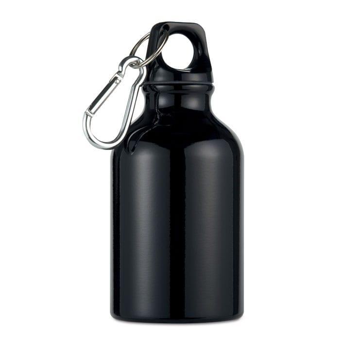 black Single wall aluminium bottle black