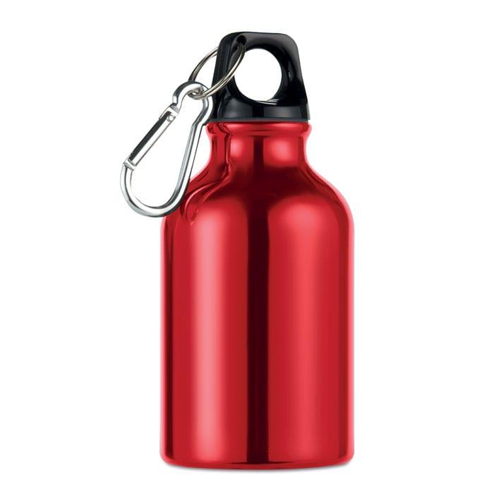 red Single wall aluminium bottle