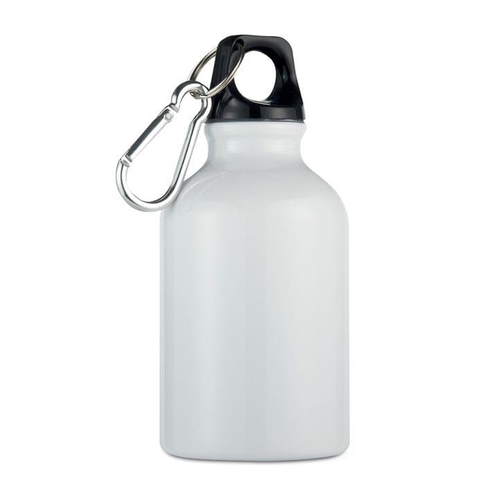white Single wall aluminium bottle