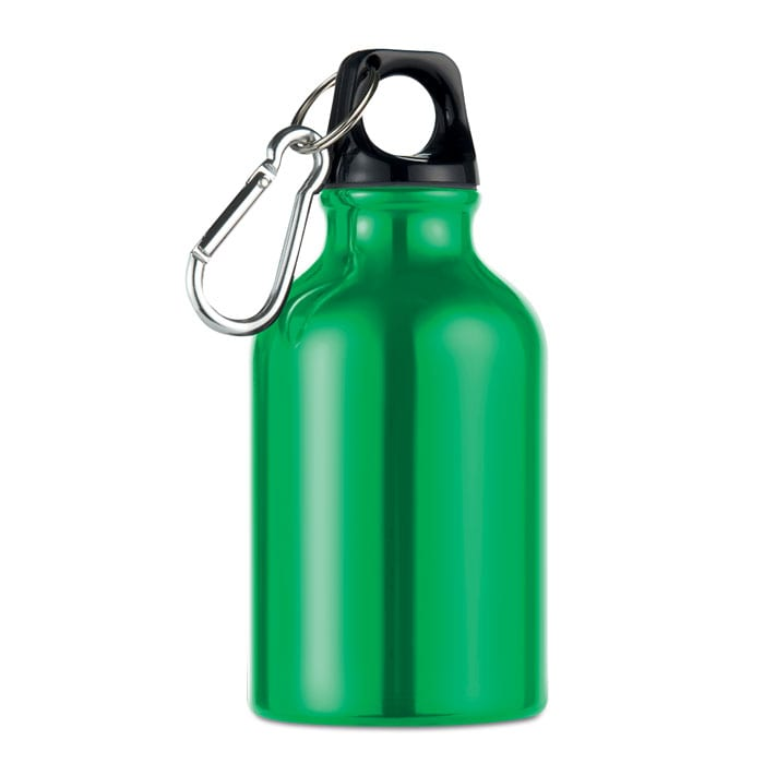 green Single wall aluminium bottle
